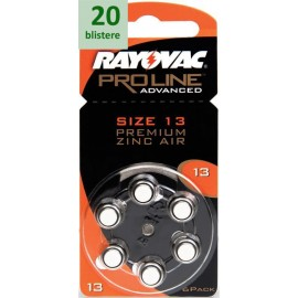 Rayovac 13 Proline Advanced Premium Zinc-Air - 20 blistere