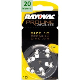 Rayovac 10 Proline Advanced Premium Zinc-Air - 20 blistere