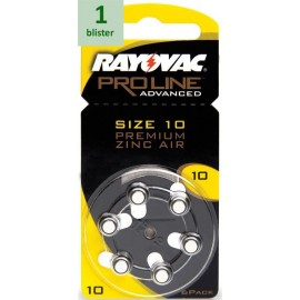 Rayovac 10 Proline Advanced Premium Zinc-Air - 1 blister