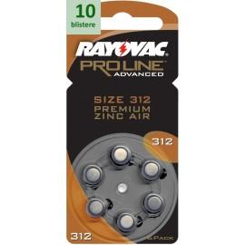 Rayovac 312 Proline Advanced Premium Zinc-Air - 10 blistere