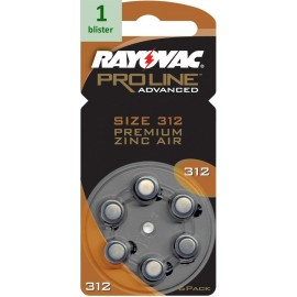 Rayovac 312 Proline Advanced Premium Zinc-Air - 1 blister
