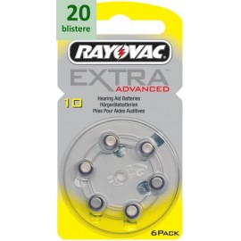 Rayovac 10 Extra Advanced - 20 blistere