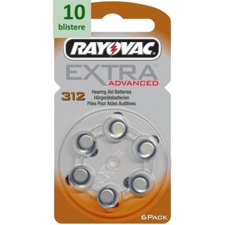 Rayovac 312 Extra Advanced - 10 blistere