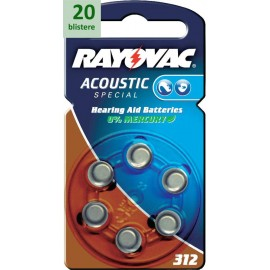 Rayovac 312 Acoustic Special - 20 blistere