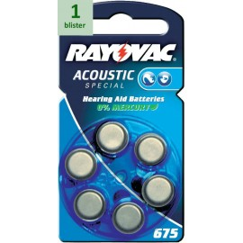 Rayovac 675 Acoustic Special - 1 blister