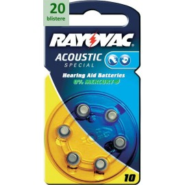 Rayovac 10 Acoustic Special - 20 blistere