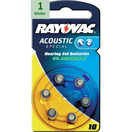 Rayovac 10 Acoustic Special - 1 blister